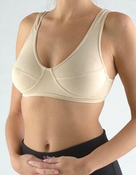 GINA dámské podprsenka sportovní, bez kostice, šité, jednobarevné 97017P - tělová