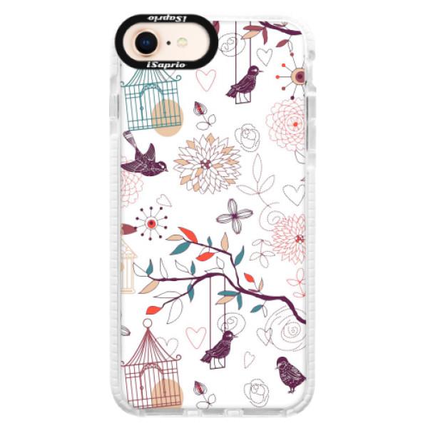 Silikonové pouzdro Bumper iSaprio - Birds - iPhone 8