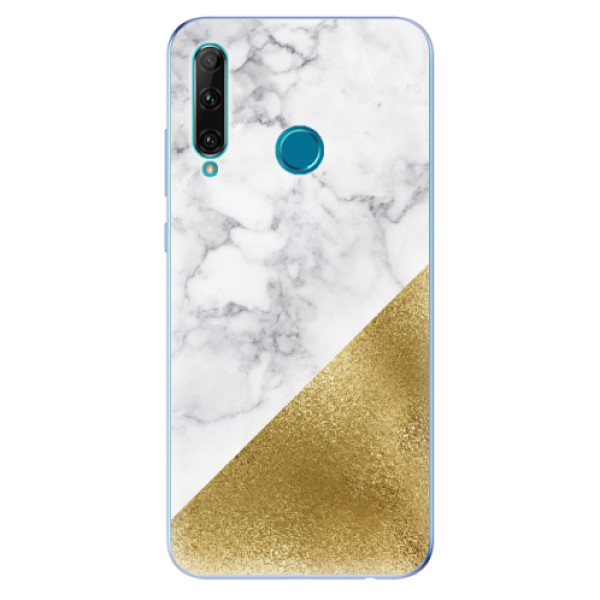 Odolné silikonové pouzdro iSaprio - Gold and WH Marble - Honor 20e