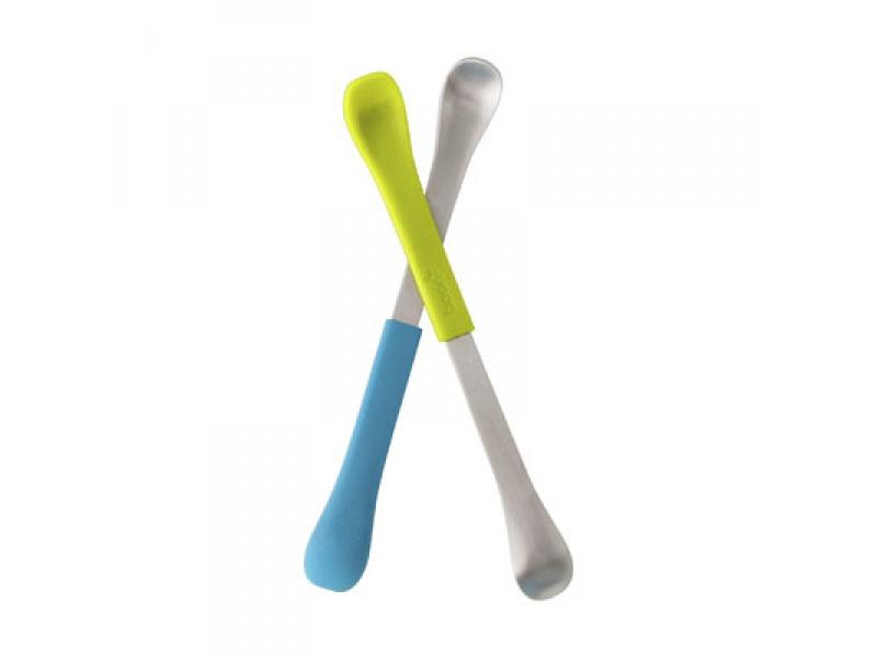 Boon - SWAP - Oboustranná lžička 2ks modro-zelená