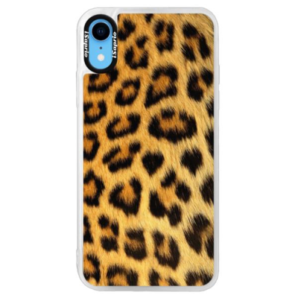 Neonové pouzdro Pink iSaprio - Jaguar Skin - iPhone XR