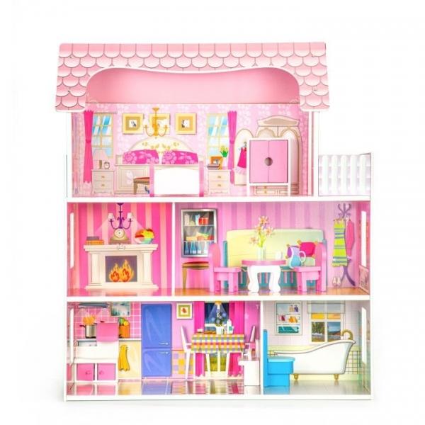 dreveny-domecek-pro-panenky-eco-toys-rezidence-ruze