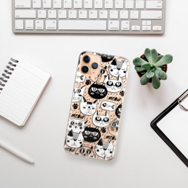 Odolné silikonové pouzdro iSaprio - Cat pattern 03 - iPhone 11 Pro Max