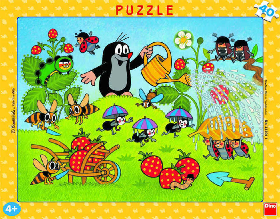 DINO Puzzle KRTEK (Krteček) v jahodách 40 dílků