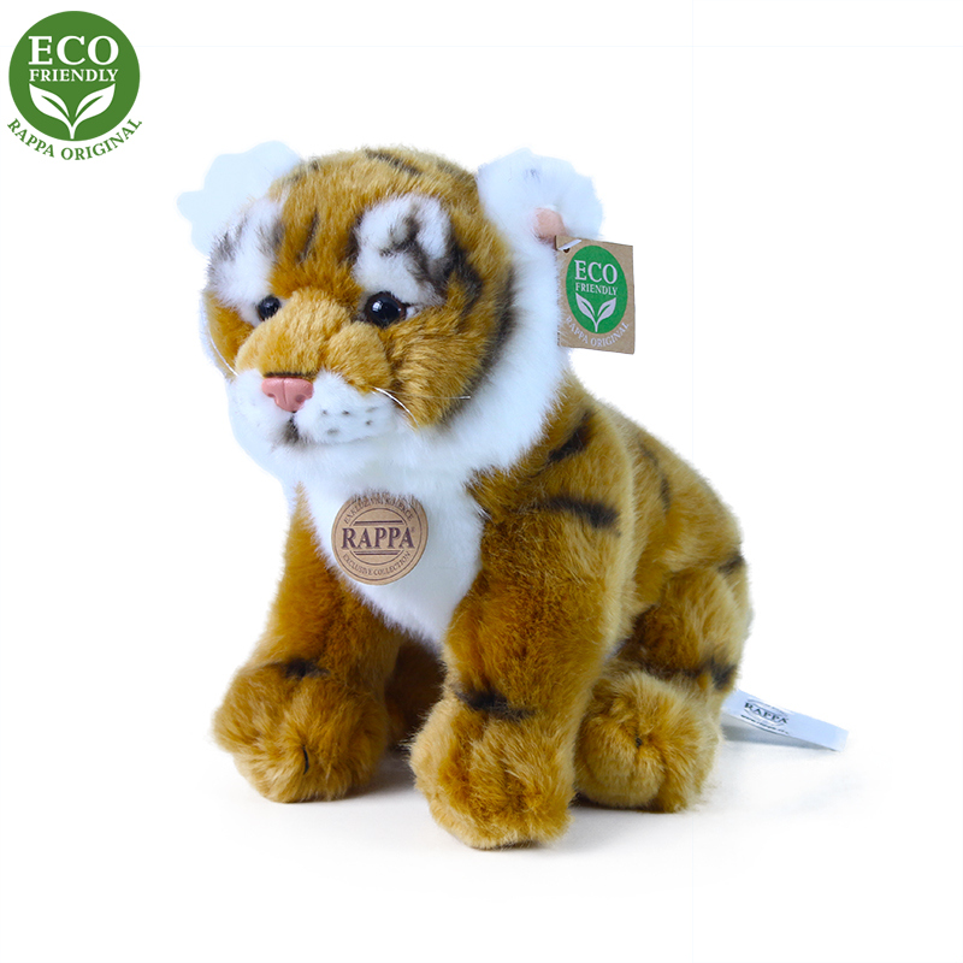 Plyšový tygr hnědý sedící 25 cm ECO-FRIENDLY