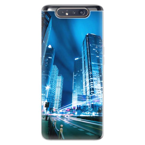 Odolné silikonové pouzdro iSaprio - Night City Blue - Samsung Galaxy A80