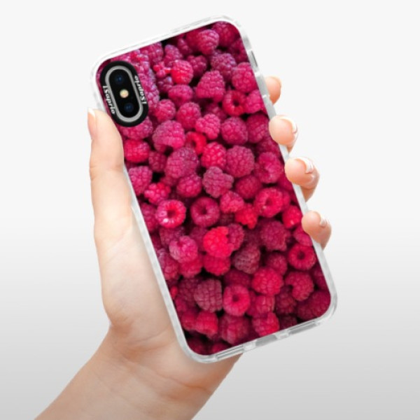 Silikonové pouzdro Bumper iSaprio - Raspberry - iPhone X