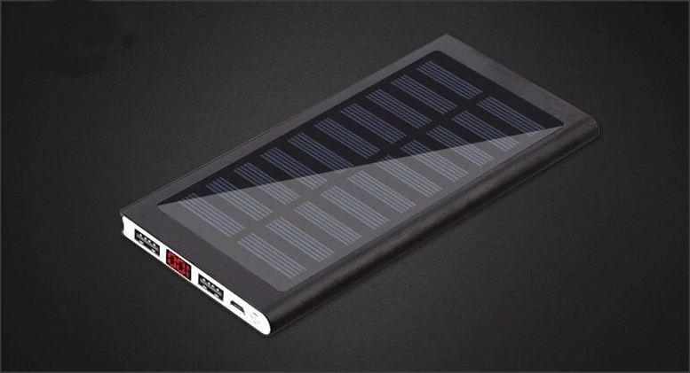 Solární powerbanka - Černá