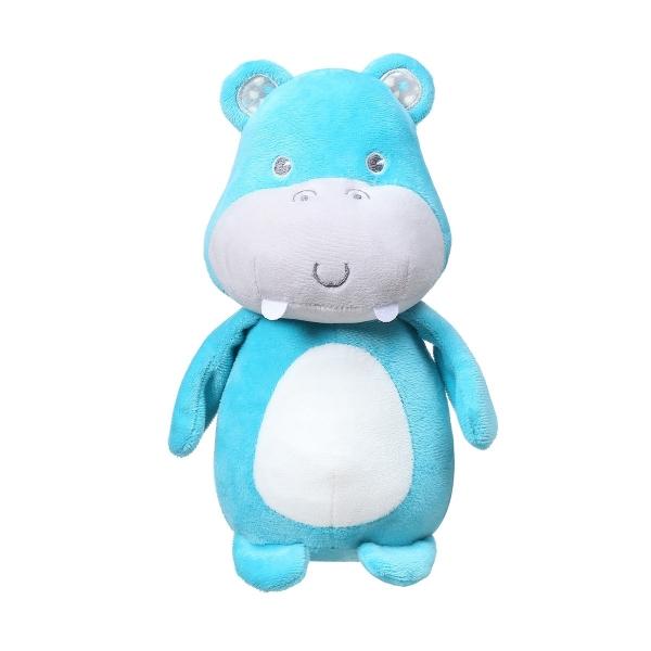 BabyOno Plyšová hračka s rolničkou - Hippo Marcel