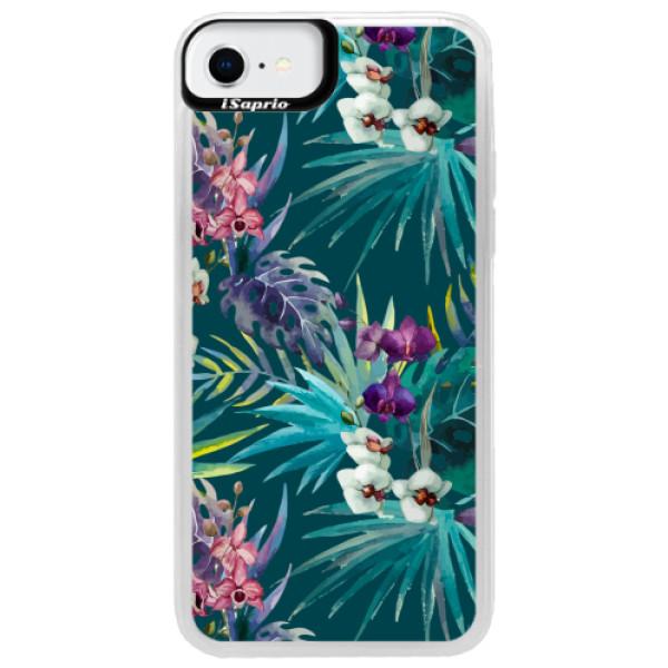 Neonové pouzdro Pink iSaprio - Tropical Blue 01 - iPhone SE 2020
