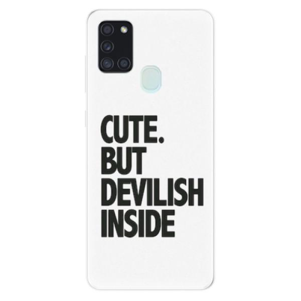 Odolné silikonové pouzdro iSaprio - Devilish inside - Samsung Galaxy A21s
