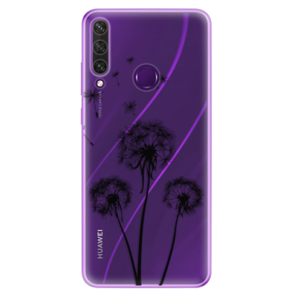 Odolné silikonové pouzdro iSaprio - Three Dandelions - black - Huawei Y6p