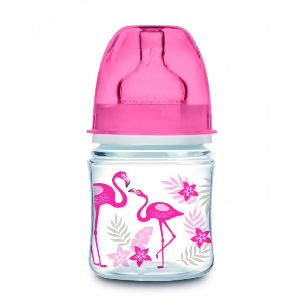 Antikoliková lahvička 120 ml Jungle - Plameňáci