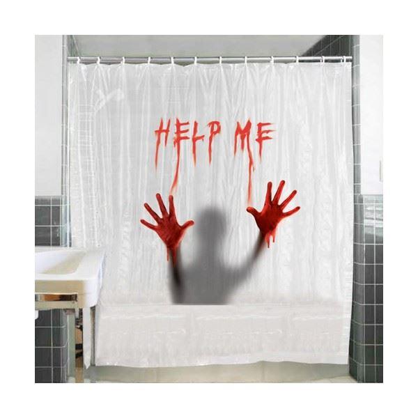Krvavý sprchový závěs