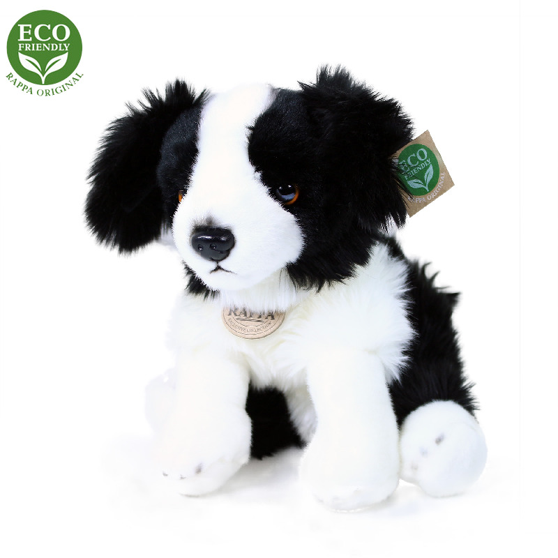 Plyšový pes Border kolie sedící 30 cm ECO-FRIENDLY