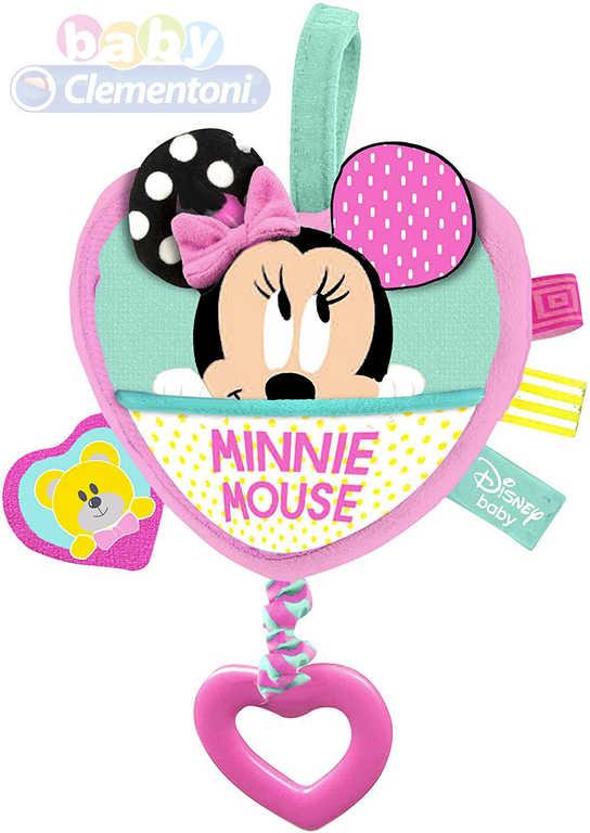 CLEMENTONI Baby chrastítko hudební skříňka natahovací Minnie Mouse