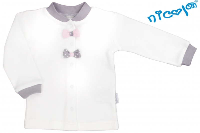 Novorozenacká bavlněná košilka Nicol, Paula - bílá s