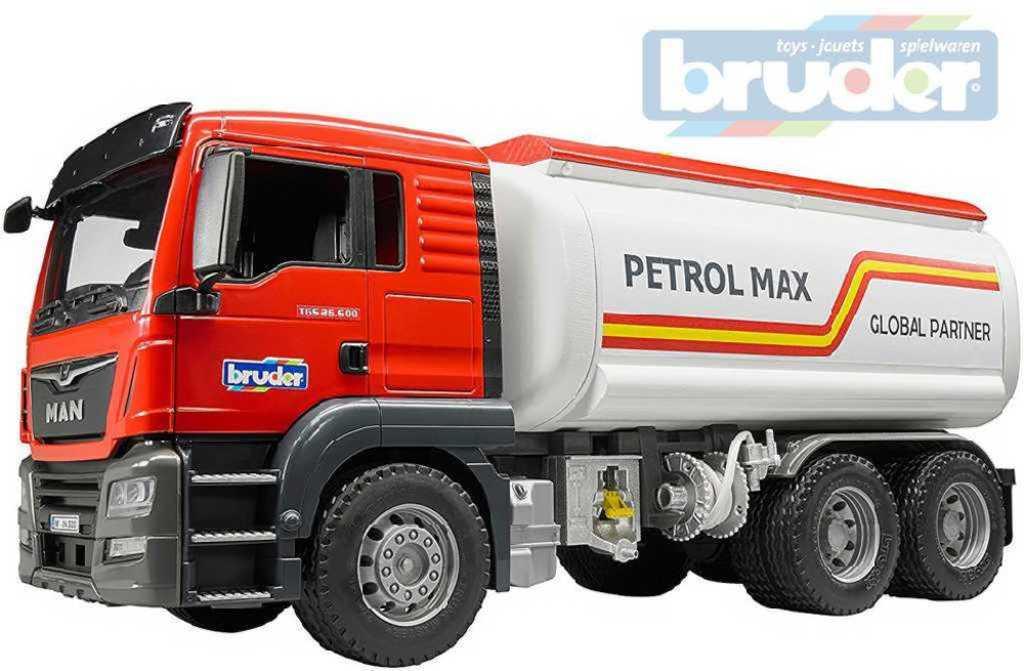 BRUDER 03775 (3775) Auto nákladní MAN TGS cisterna na benzín funkční model plast