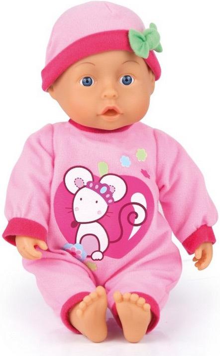 Panenka miminko Adélka 33cm baby na baterie říká dětská slůvka Zvuk
