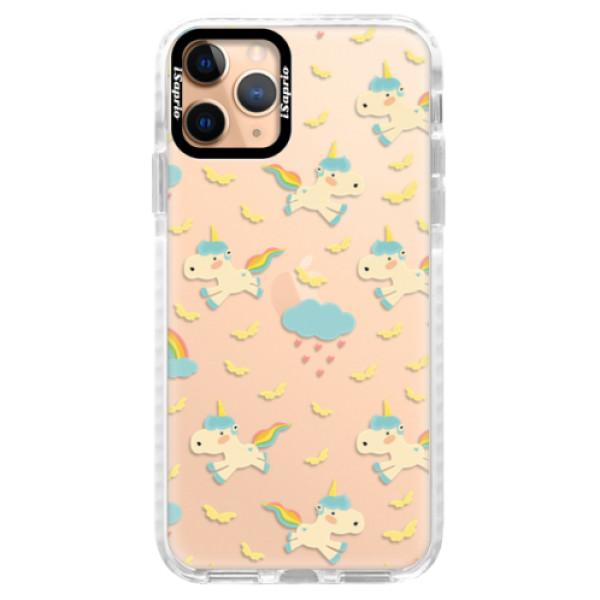 Silikonové pouzdro Bumper iSaprio - Unicorn pattern 01 - iPhone 11 Pro