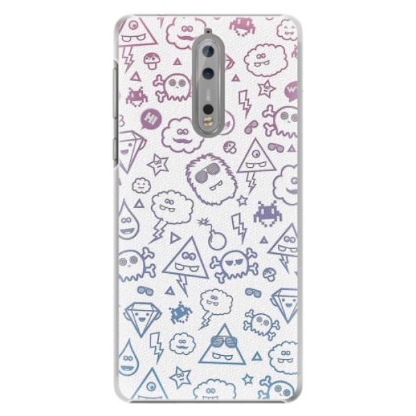 Plastové pouzdro iSaprio - Funny Clouds - Nokia 8