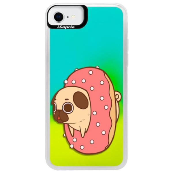 Neonové pouzdro Blue iSaprio - Dog 04 - iPhone SE 2020