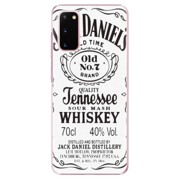 Plastové pouzdro iSaprio - Jack White - Samsung Galaxy S20