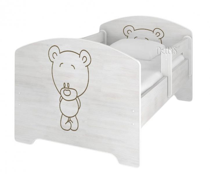 nellys-detska-postel-baby-bear-v-barve-norske-borovice-160-x-80-cm-matrace-zdarma-160x80