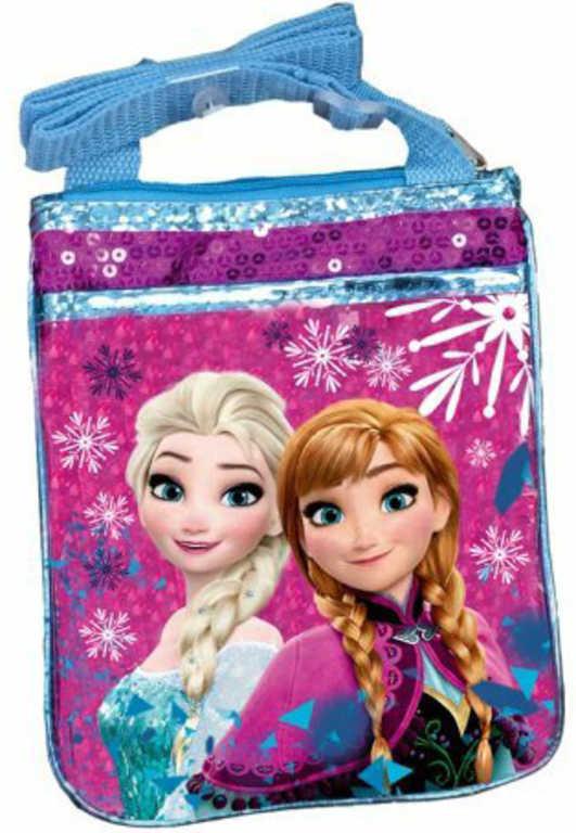ET Taška dívčí přes rameno Frozen (Ledové Království) s flitry na zip