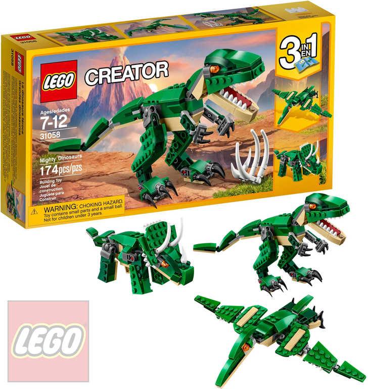 LEGO CREATOR Úžasný dinosaurus 3v1 31058 STAVEBNICE