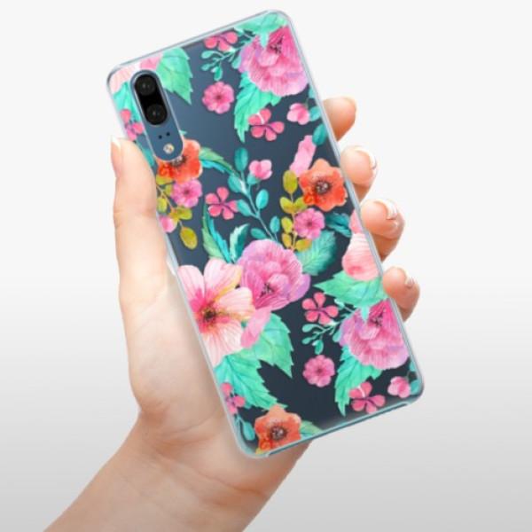 Plastové pouzdro iSaprio - Flower Pattern 01 - Huawei P20
