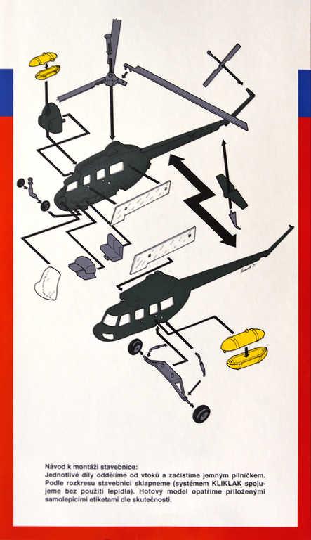 SMĚR Model helikoptéra VRTULNÍK Mi 2 1:48 (stavebnice vrtulníku)