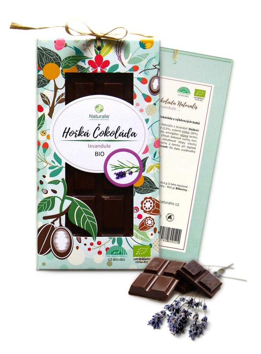 BIO Čokoláda Naturalis s levandulí - 80g