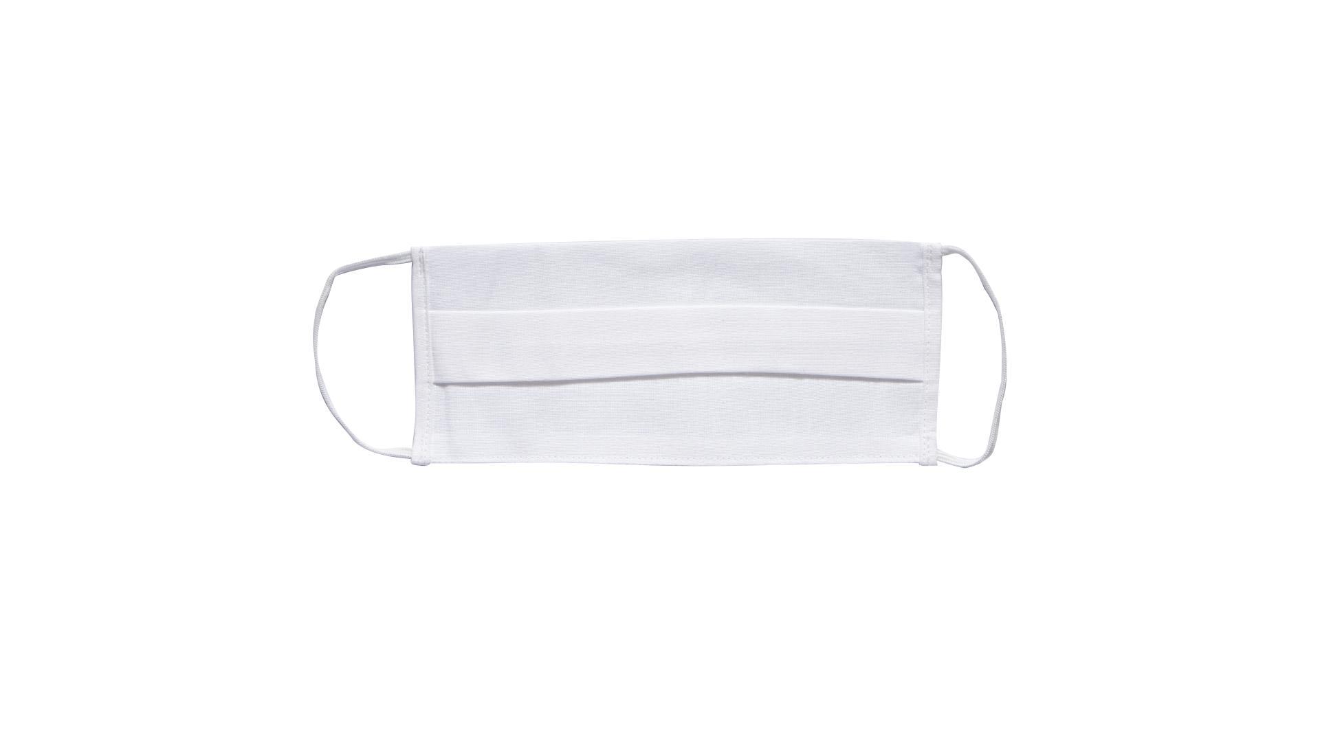 4CARS Dvouvrstvé ochranné bavlněné rouško bílé s gumičkou 1ks - větší