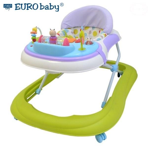 Euro Baby Multifunkční chodítko - zelené/fialové