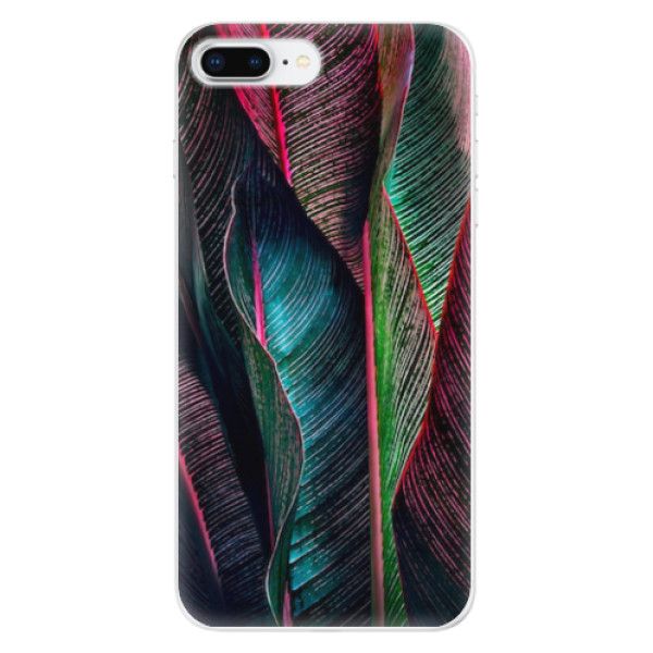 Odolné silikonové pouzdro iSaprio - Black Leaves - iPhone 8 Plus