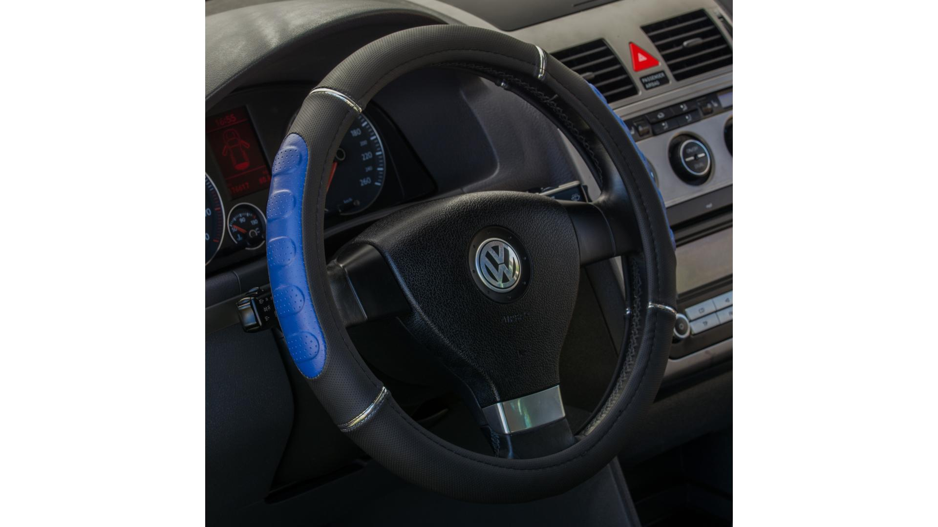4CARS Potah volantu 37-39cm modrý