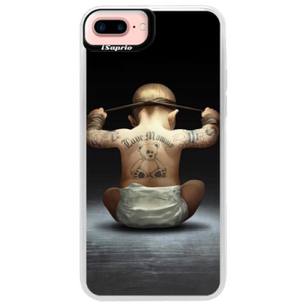 Neonové pouzdro Pink iSaprio - Crazy Baby - iPhone 7 Plus
