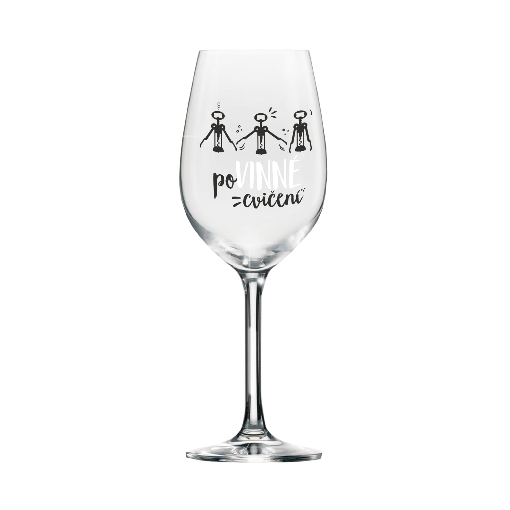 Mega sklenice na víno - Povinné cvičení
