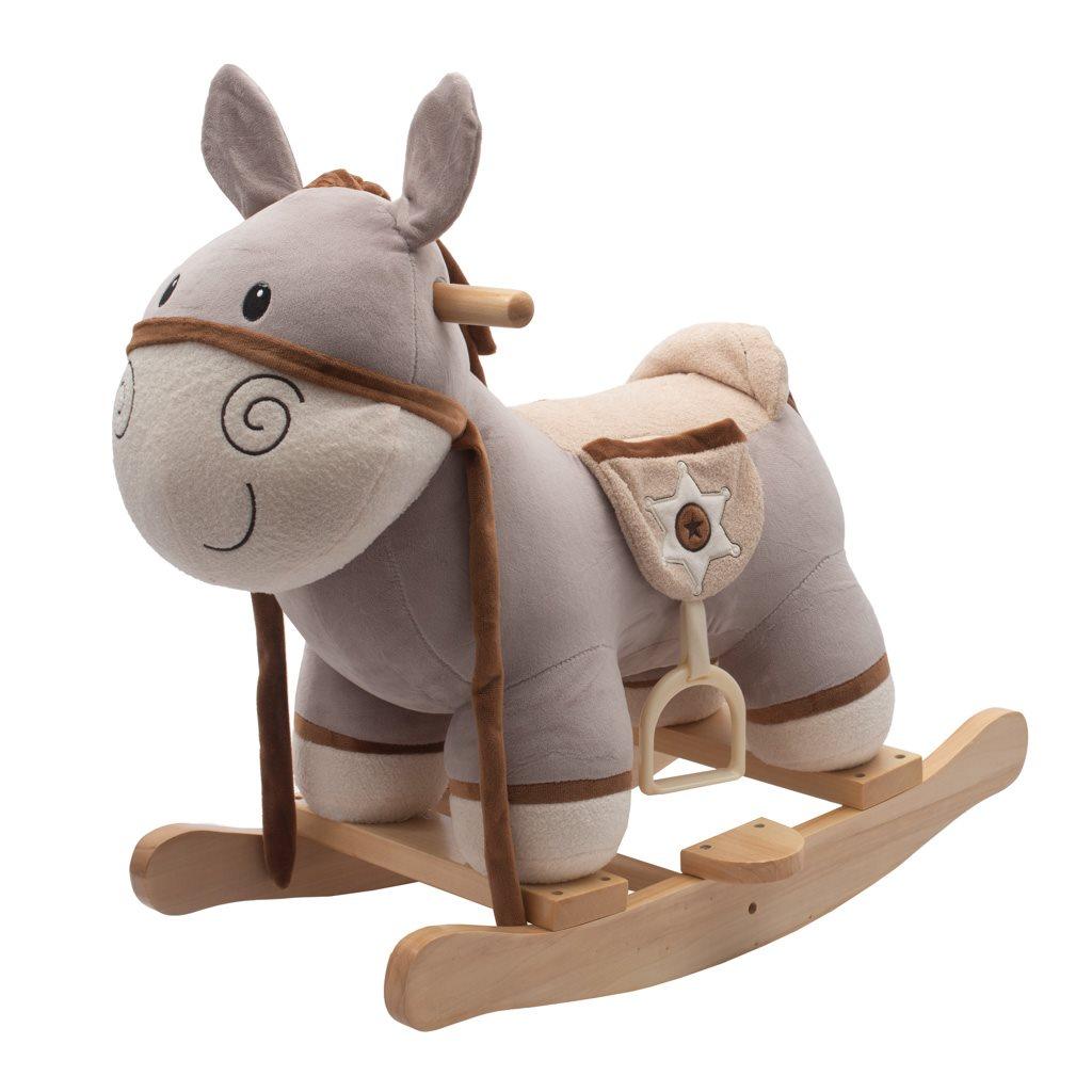 Houpací hračka s melodií PlayTo Donkey - fialová