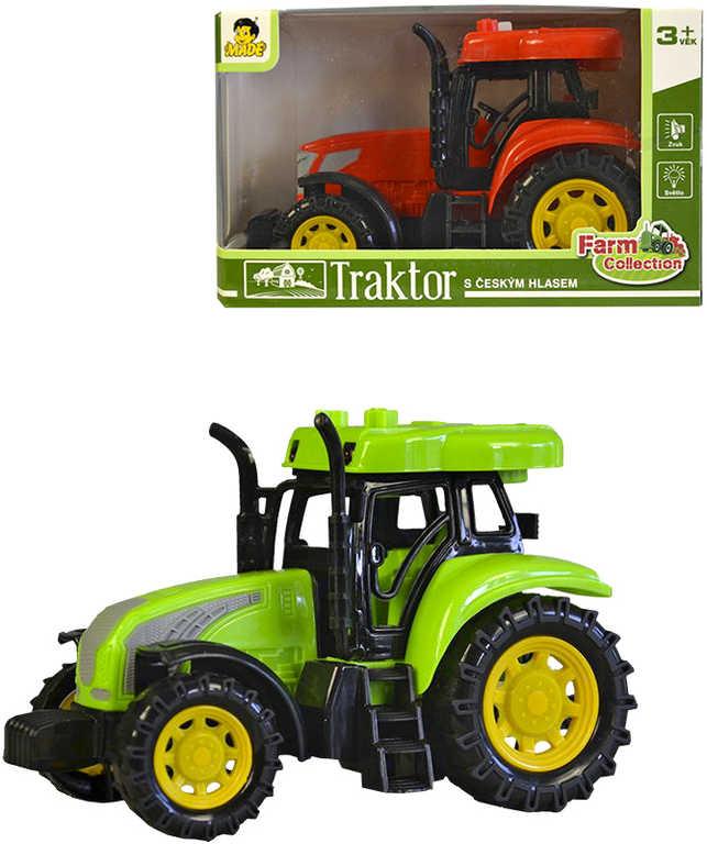 Traktor farmářský na setrvačník vyprávění zvířecí zvuky na baterie Světlo Zvuk 2 barvy