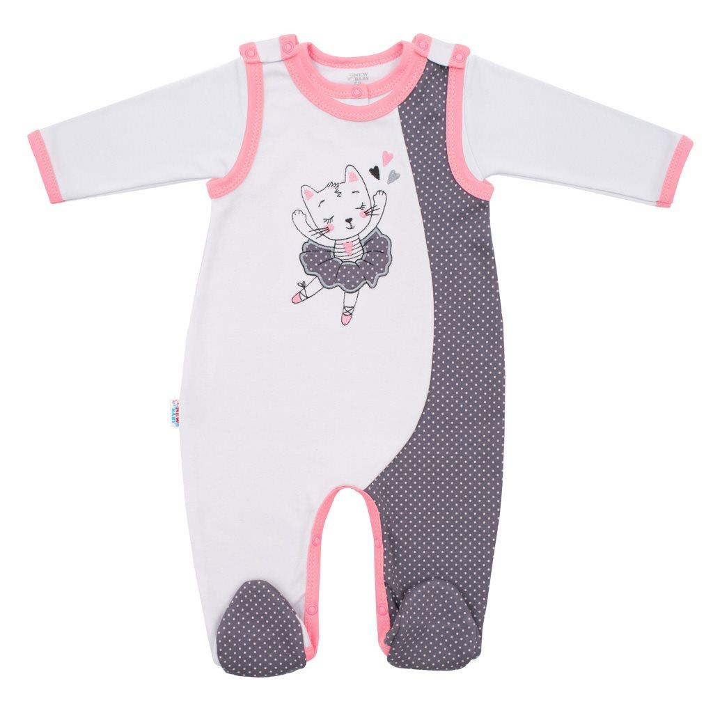 - 2-dílná bavlněná souprava New Baby Ballerina - růžová/62 (3-6m)