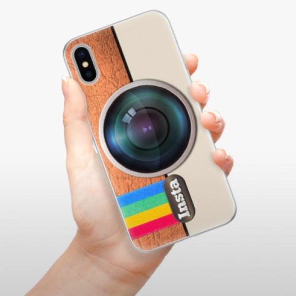 Silikonové pouzdro iSaprio - Insta - iPhone X