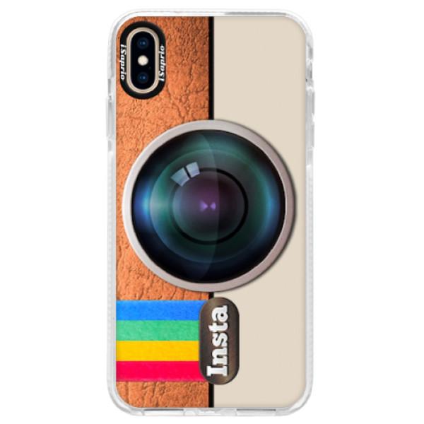 Silikonové pouzdro Bumper iSaprio - Insta - iPhone XS Max