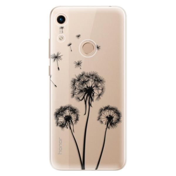 Odolné silikonové pouzdro iSaprio - Three Dandelions - black - Huawei Honor 8A