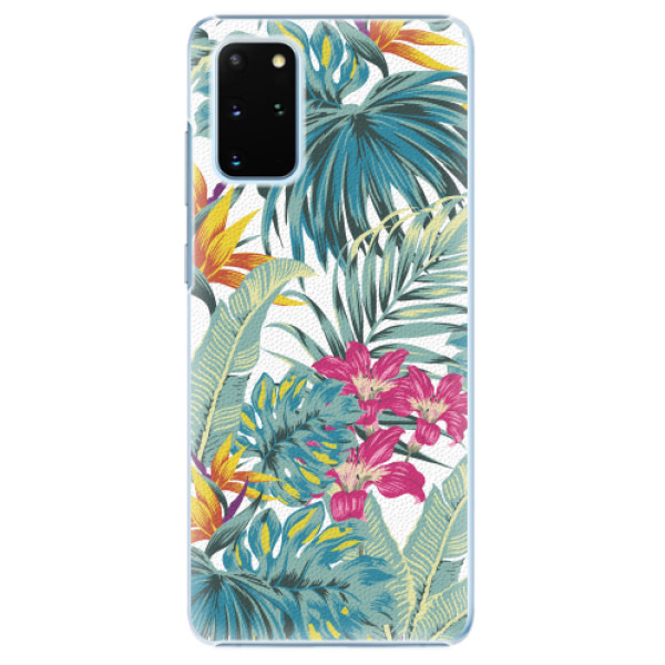 Plastové pouzdro iSaprio - Tropical White 03 - Samsung Galaxy S20+