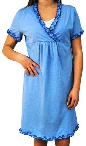 Těhotenská, kojící noční košile s volánkem