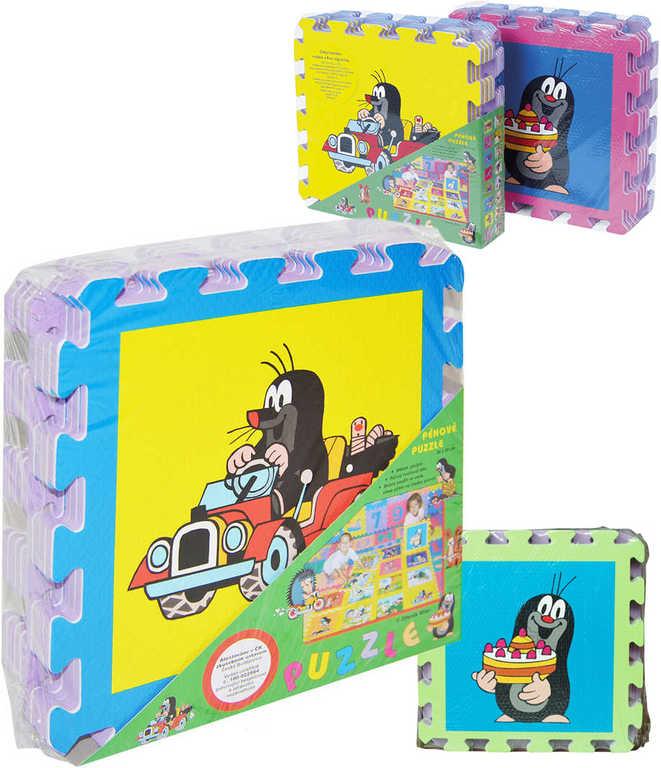 Měkké bloky soft puzzle na zem KRTEK B 32x32cm set 8dílků 4 barvy