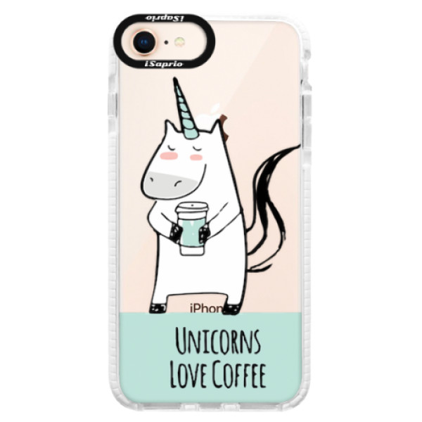 Silikonové pouzdro Bumper iSaprio - Unicorns Love Coffee - iPhone 8