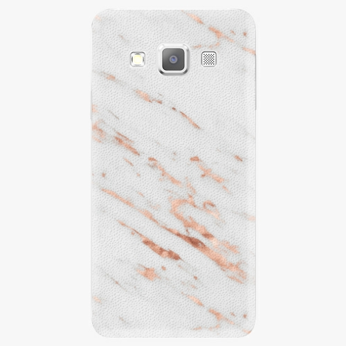 Plastový kryt iSaprio - Rose Gold Marble - Samsung Galaxy A3
